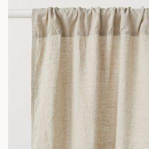 H&M beige 100% linen curtains 1 pair, 3 available